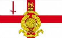 ROYAL MARINES RESERVES LONDON - 5 X 3 FLAG